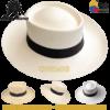 Panamahut mit breite Krempe